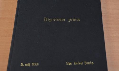 Rigorózna práca Andreja Danka