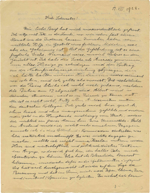 Novozverejnený list Alberta Einsteina.