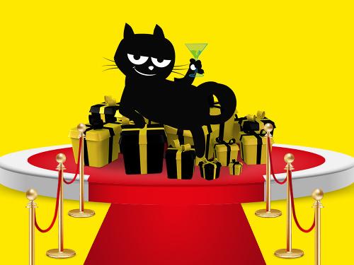 čierna mačička zadok pic
