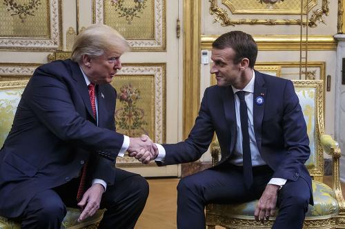 Donald Trump a Emmanuel