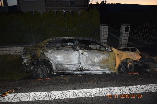 The car burned down,
