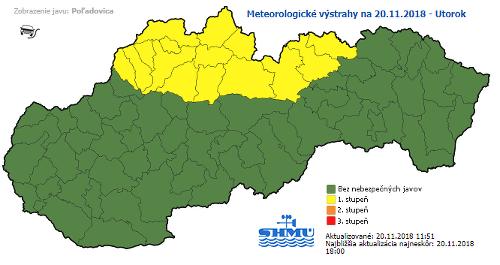 Vodiči, dávajte pozor: Na severe Slovenska hrozí v noci poľadovica