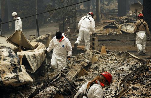 Lesné požiare v Kalifornii