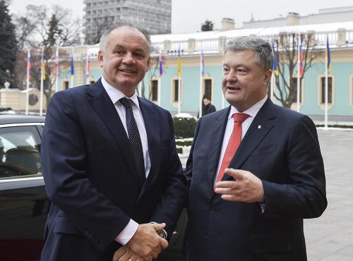 Na snímke ukrajinský prezident