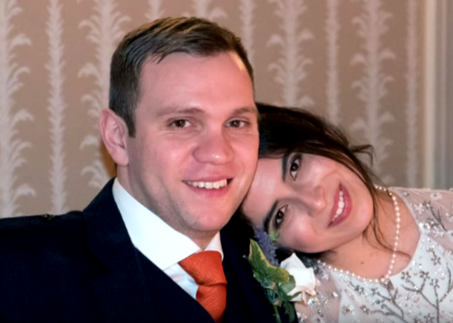 Matthew Hedges s manželkou