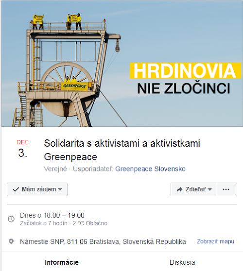 Zhromaždenie na podporu aktivistov