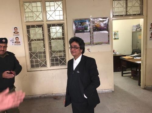 Na snímke pakistanský právnik