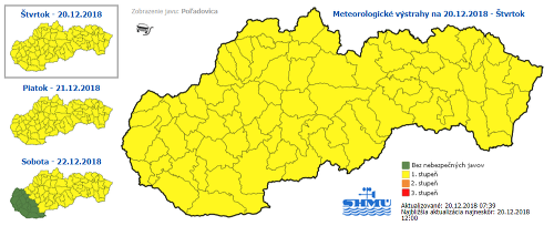 Výstraha pre celé Slovensko