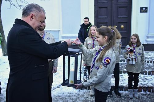 Andrej Kiska počas odovzdávania