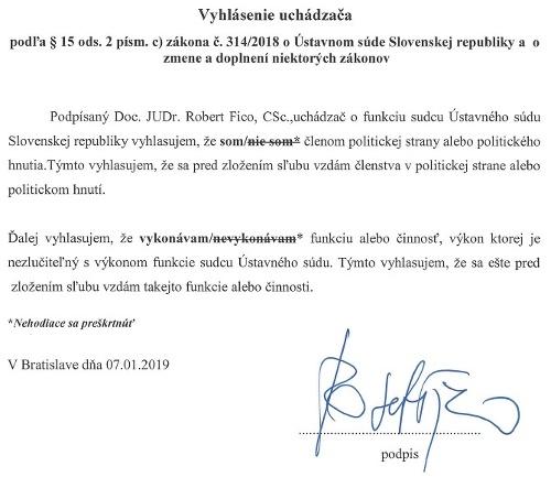 Zverejnili Ficov list, v