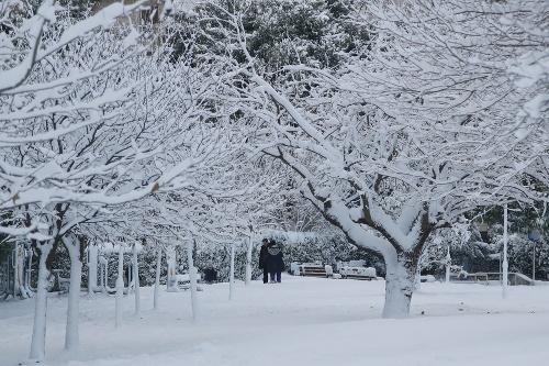 Sneh v gréckych Aténach