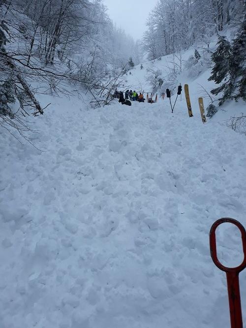 Smrť pod snehom vo