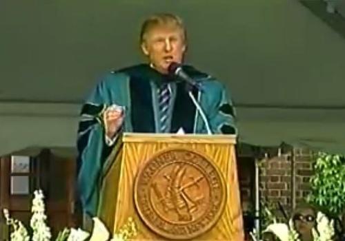 Donald Trump pri prejave
