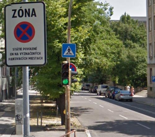 Značka na Vazovovej ulici