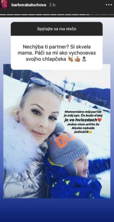 Balúchová plánuje ďalšie dieťa: