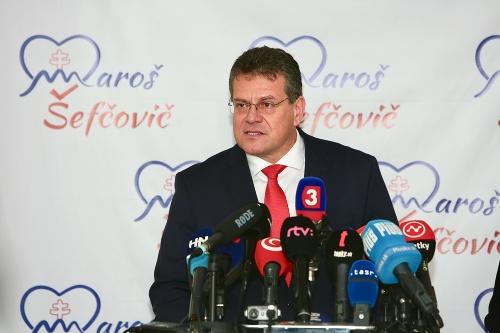 Brífing Maroša Šefčoviča