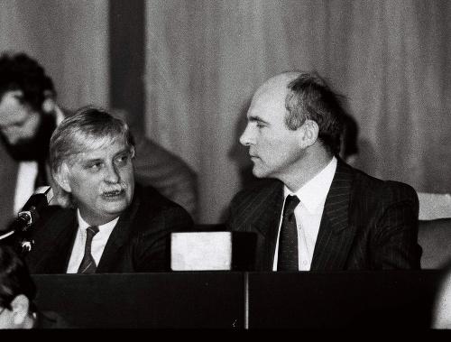 František Mikloško (vpravo) s