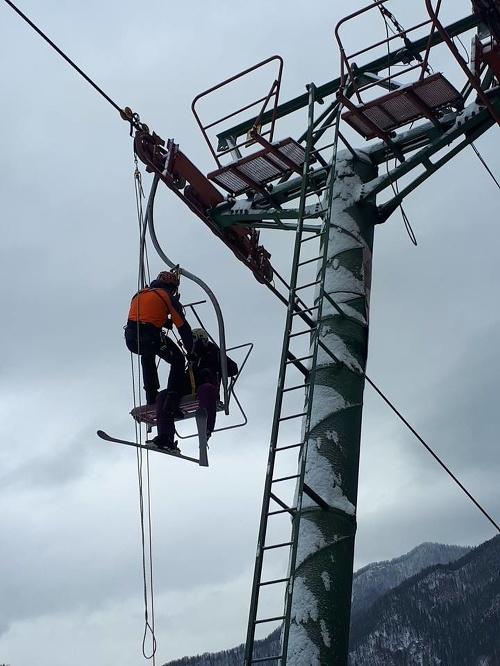 Záchrana lyžiarov v Malej