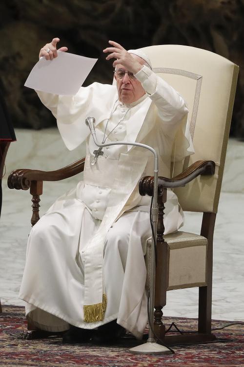 Pápež František ako prvý