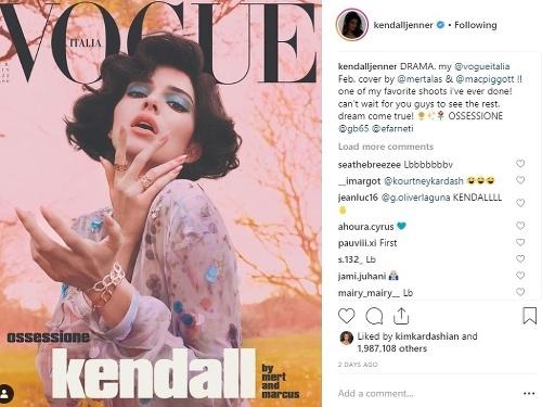 Kendall Jenner zdobí titulku