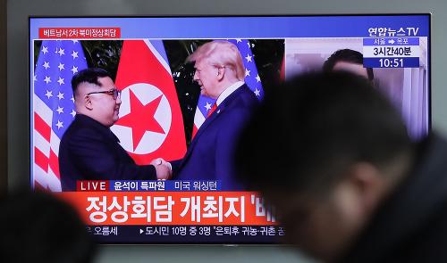 Kim Čong-un a Donald
