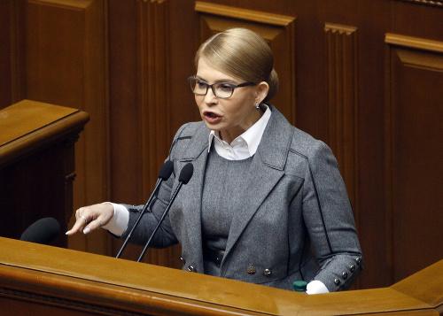 Bývalá ukrajinská premiérka Julija
