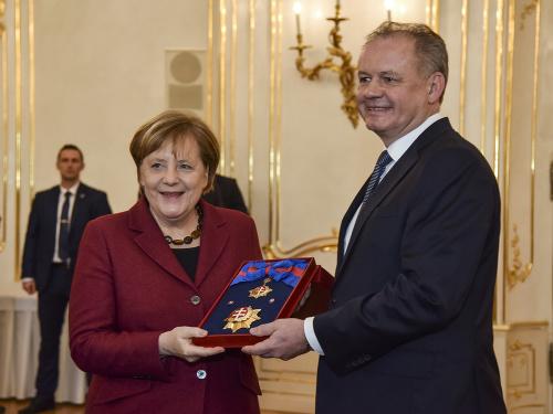 Angela Merkelová a Andrej