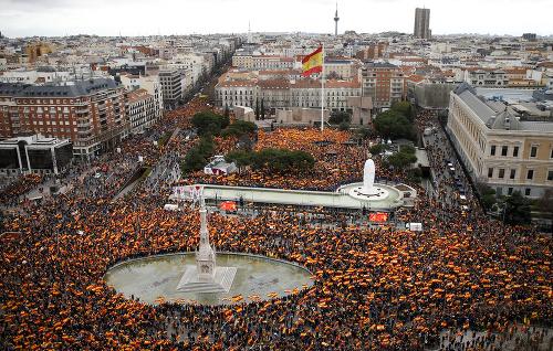 Masívne demonštrácie v Madride