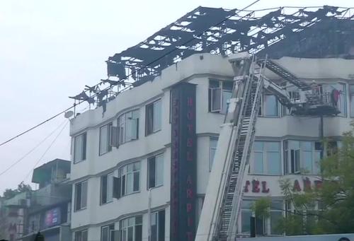 Takto vyzerá zničený hotel