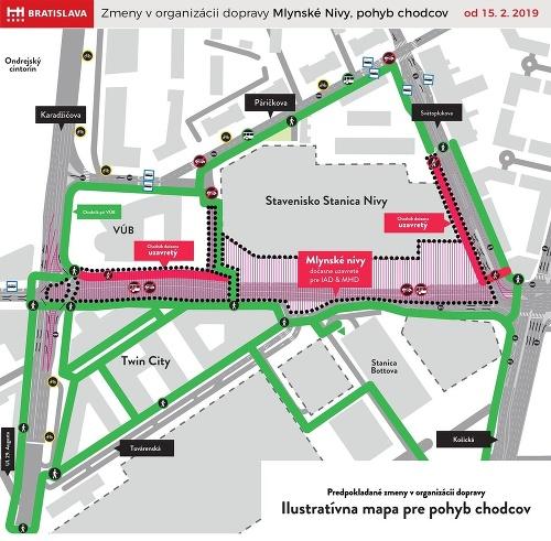 Pohyb chodcov na ulici
