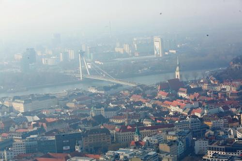 Letecké zábery z Bratislavy.
