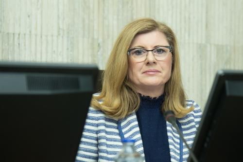 Gabriela Matečná na rokovaní