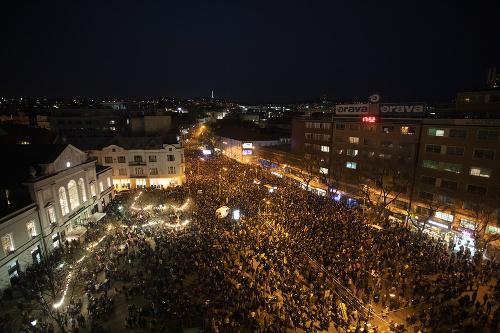 Minuloročné protesty organizované pod