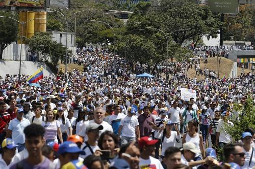 Protest stúpencov Nicolása Madura