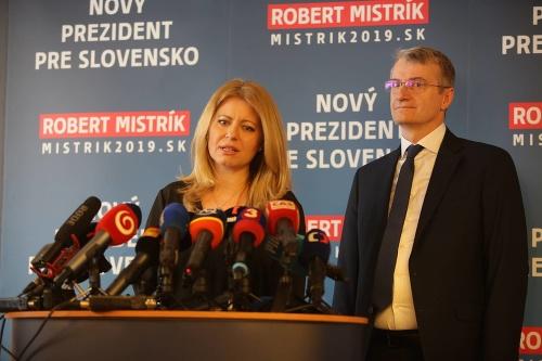 Zuzana Čaputová a Robert