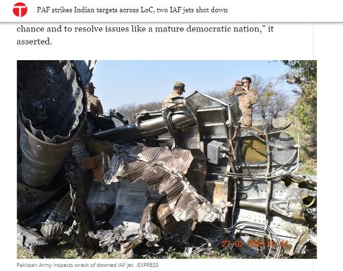 Pakistanské vzdušné sily zostrelili