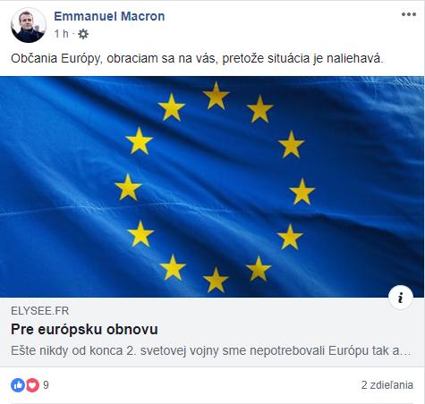 Francúzsky prezident Macron zverejnil