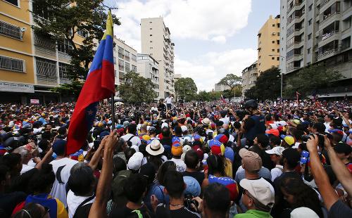 Venezuelský opozičný líder Juan
