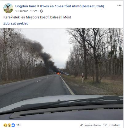 Nehoda v Maďarsku si