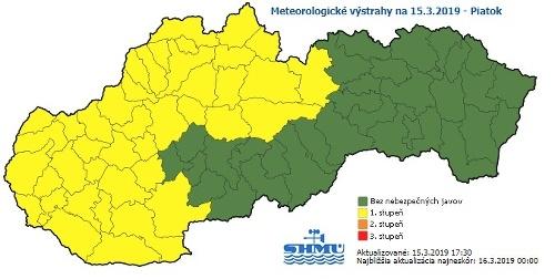 Meteorológovia varujú pred silnejším