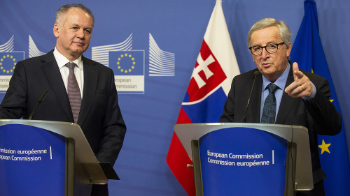 VIDEO Kiska a Juncker