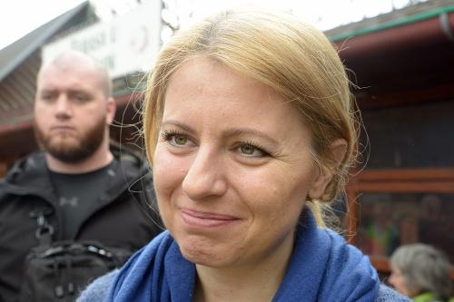 Zuzana Čaputová počas rodinnej