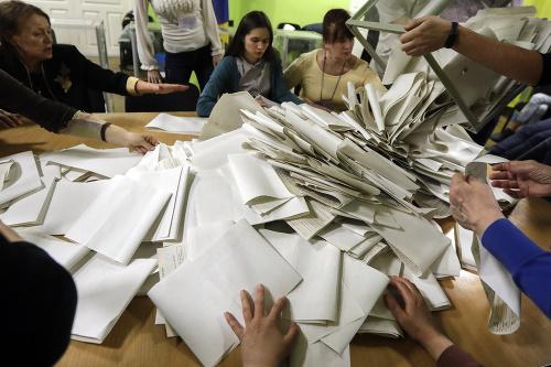 Počítanie hlasov po prvom