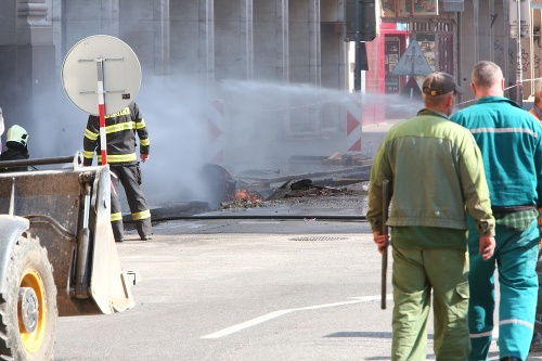 Výbuch plynu v centre