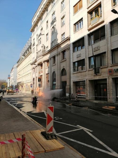 Na Gorkého ulici vybuchol