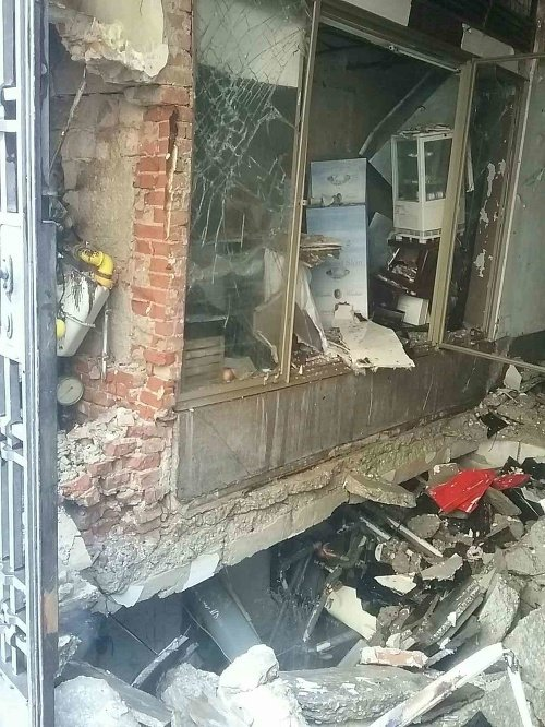Výbuch plynu v Bratislave.