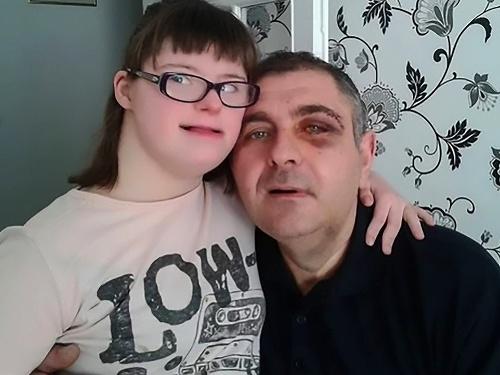Goran Velinov s dcérou
