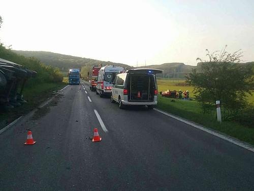 Dopravná nehoda v obci