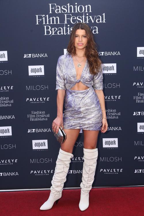 Chomisteková with bold neckline,