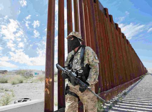 Americký vojak na hraniciach